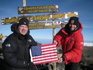 Bob and Bob with the American Flag
